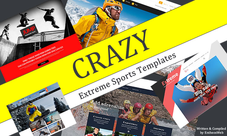 CRAZY Extreme Sports Website Templates Entheos