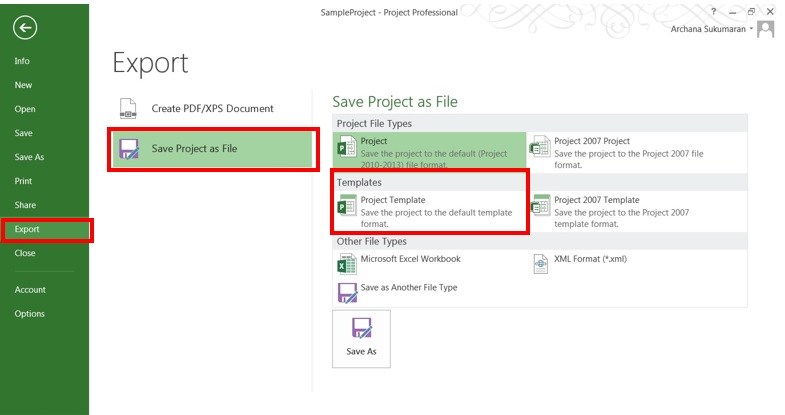 Creating Project Templates in Microsoft Project 2013 \u2013 EPMA Blog