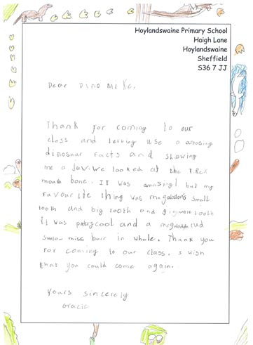 School Pupils Send in Thank You Letters to Everything Dinosaur