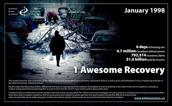 Insurance Bureau of Canada ice storm ad