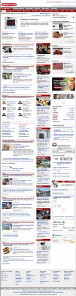 Cyberpresse homepage goes on and on and on and on and on...