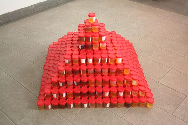 For those wondering what a pyramid of urine samples looks like, here you go