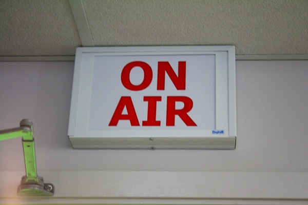 """The old """"on air"""" sign, always a must-have"""