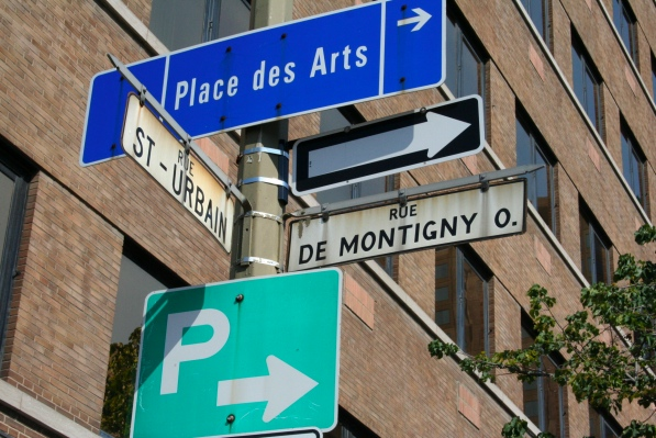 Rue de Montigny Ouest has no eastern counterpart