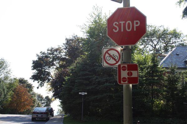 No cycling on Summit Circle?
