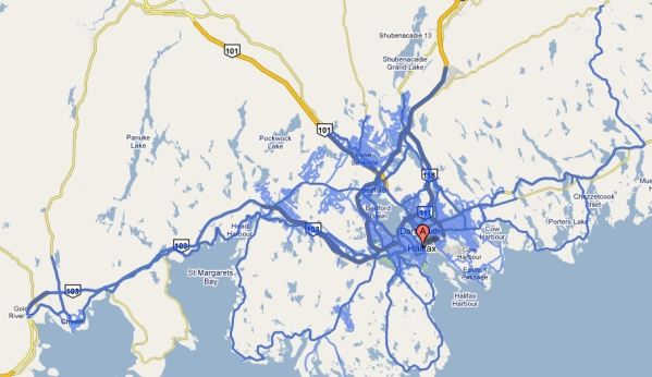 Google Street View map for Halifax
