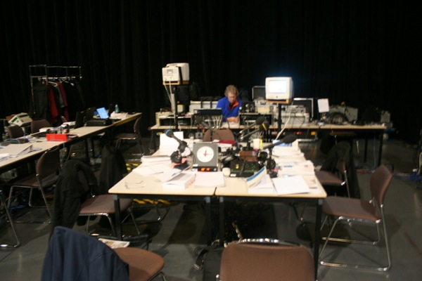 CBC radio has a studio setup in the lockout room to go live at 4pm