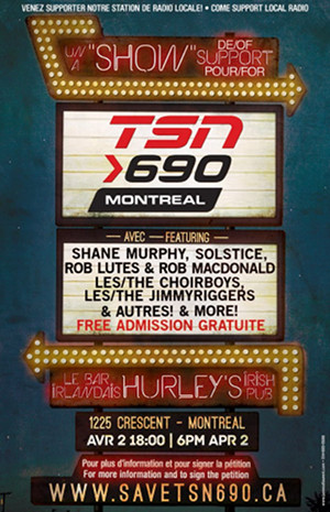 An event on Tuesday to show support for TSN 690
