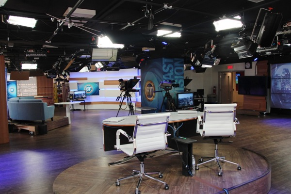 The Breakfast Television studio is 2800 square feet, and very versatile