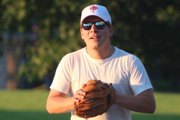 Thomas Daigle at first base.