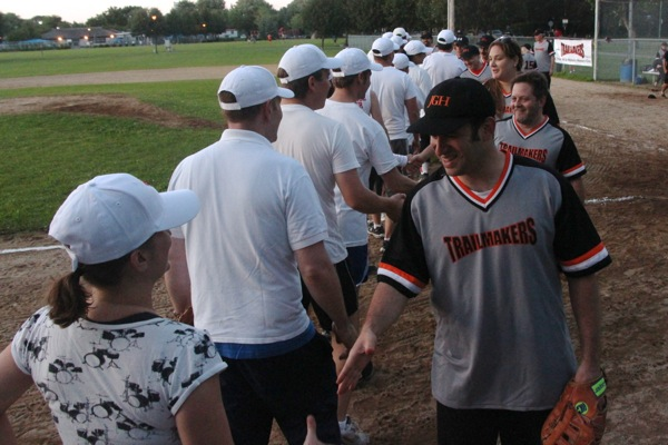 Handshakes after the game.