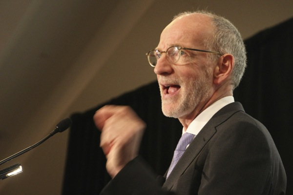 """CBC CEO Hubert Lacroix launches a """"national conversation"""" at a speech at the Canadian Club in Montreal on Monday."""