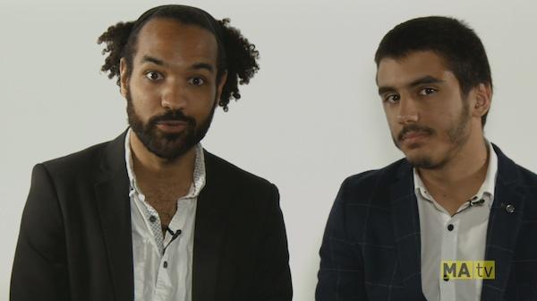 Living 2 Gether host Vahid Vidah, left, with first filmmaker Andrew Andreoli