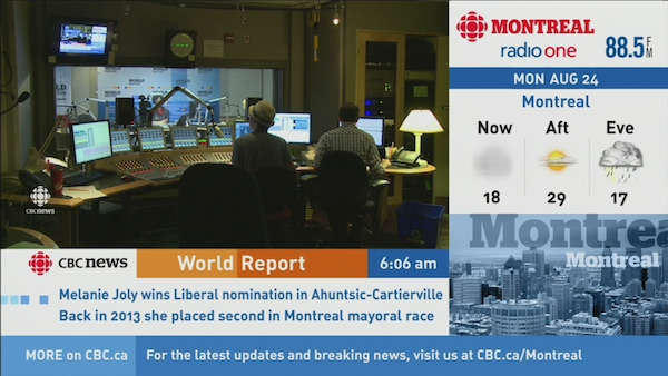 The control room at World Report.