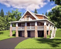 Bungalow Craftsman Hillside Home Plan - Family Home Plans Blog
