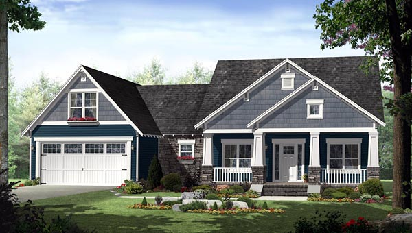 Country craftsman house plan family home plans blog Craftsman home plans