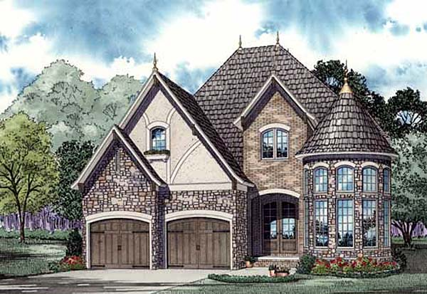 French tudor house plan family home plans blog for Tudor cottage plans