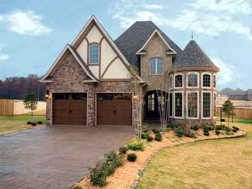 french tudor house plan - family home plans blog