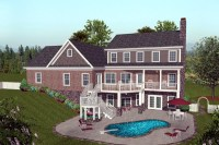 Craftsman Hillside Home Plan