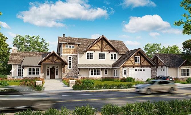 New Luxury Craftsman House Plan