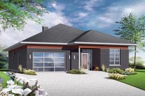 Modern House Plan 1409 SQ FT