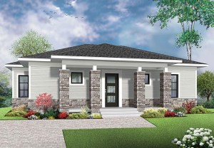 Modern House Plan 1007 SQ FT