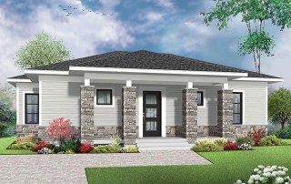 Modern House Plan 1007 SQ FT