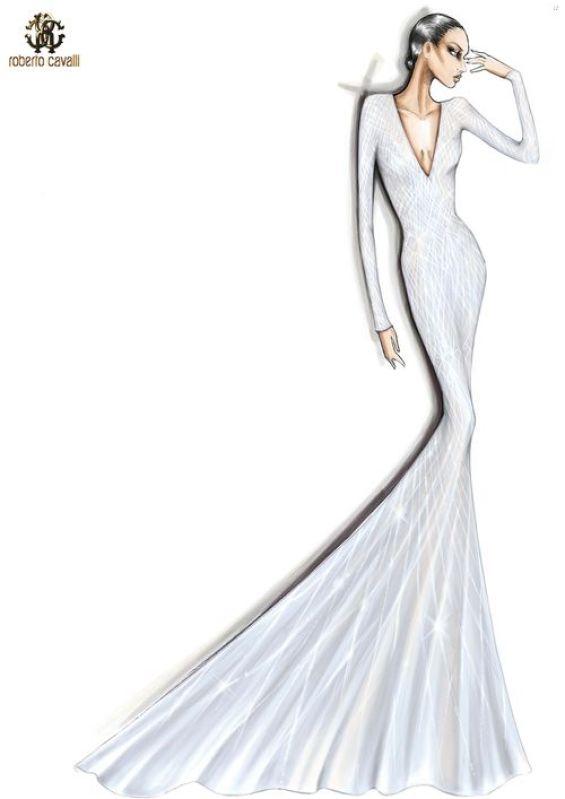 roberto cavalli sketch for lady gaga