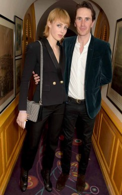 LONDON, ENGLAND - MARCH 16: Edie Campbell and Otis Ferry attend the dinner, hosted by Olivier Rousteing, to mark the opening of Balmain's first London store, at Annabel's on March 16, 2015 in London, England. (Photo by David M. Benett/Getty Images for Balmain) *** Local Caption *** Edie Campbell; Otis Ferry
