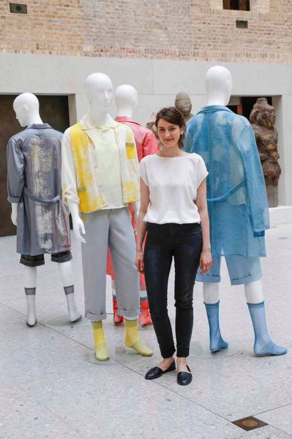 BERLIN, GERMANY - JULY 06: Julia Kleeblatt during the award ceremony European Fashion Award FASH 2015 by SDBI at Neues Museum Berlin on July 6, 2015 in Berlin, Germany. (Photo by Isa Foltin/Getty Images for FASH2015_SDBI.DE)
