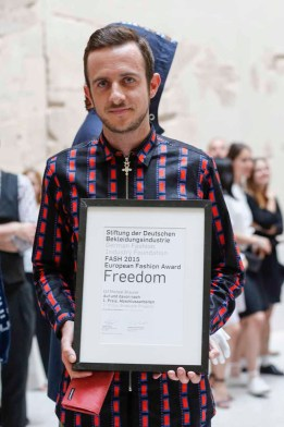 BERLIN, GERMANY - JULY 06: Ulf Michael Brauner during the award ceremony European Fashion Award FASH 2015 by SDBI at Neues Museum Berlin on July 6, 2015 in Berlin, Germany. (Photo by Isa Foltin/Getty Images for FASH2015_SDBI.DE)