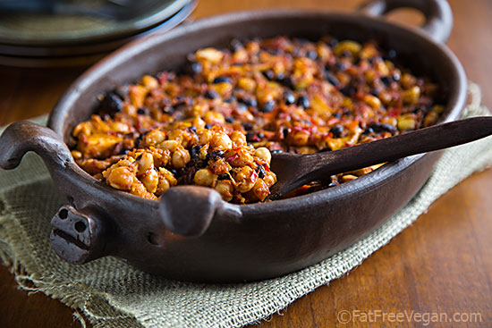Smoky Apple Baked Beans | Recipe From Fatfree Vegan Kitchen