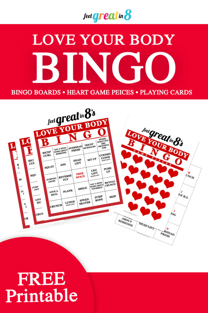 Love Your Body Fitness Bingo {Free Printable!} - Feel Great in 8 Blog