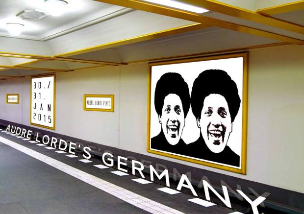 Audre Lorde's  Germany -  Audre Lorde Icon by Kim Everett. Plakatgestaltung Pawel Zoneff.