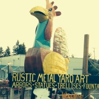 Rustic Metal Yard Art, Covington