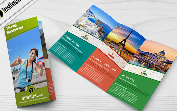 create a travel brochure