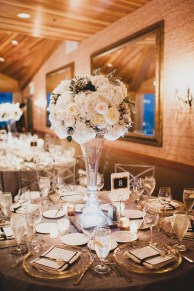 Flora Nova Design Seattle - Luxurious Winter Wedding at the Edgewater Hotel. White and Grey Wedding Reception