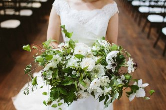 Flora Nova Design Seattle Wedding Bouquet White Floral greenery vines