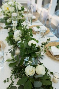 Flora Nova Design Seattle Wedding Reception Greenery Table Runner