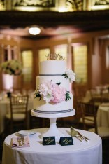 Flora Nova Design Seattle - Arctic Club Wedding cake with blush peonies