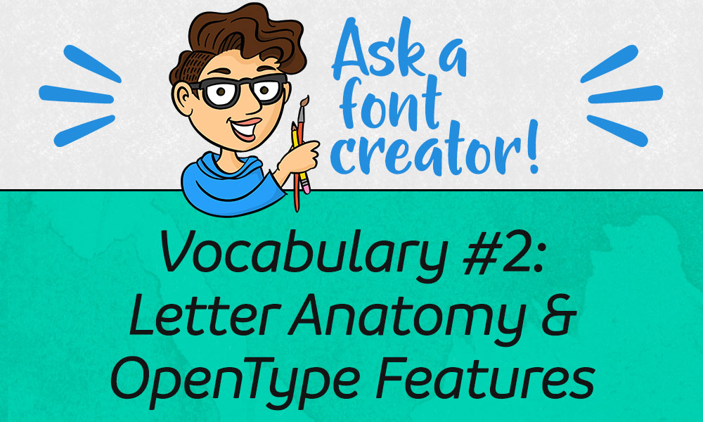 Ask a Font Creator Vocabulary #2 Letter Anatomy  OpenType