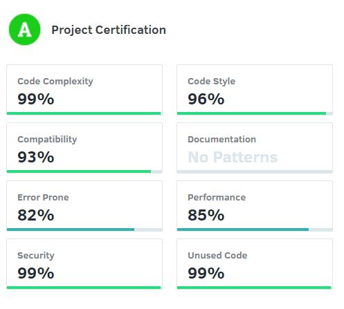 Codacy certifications