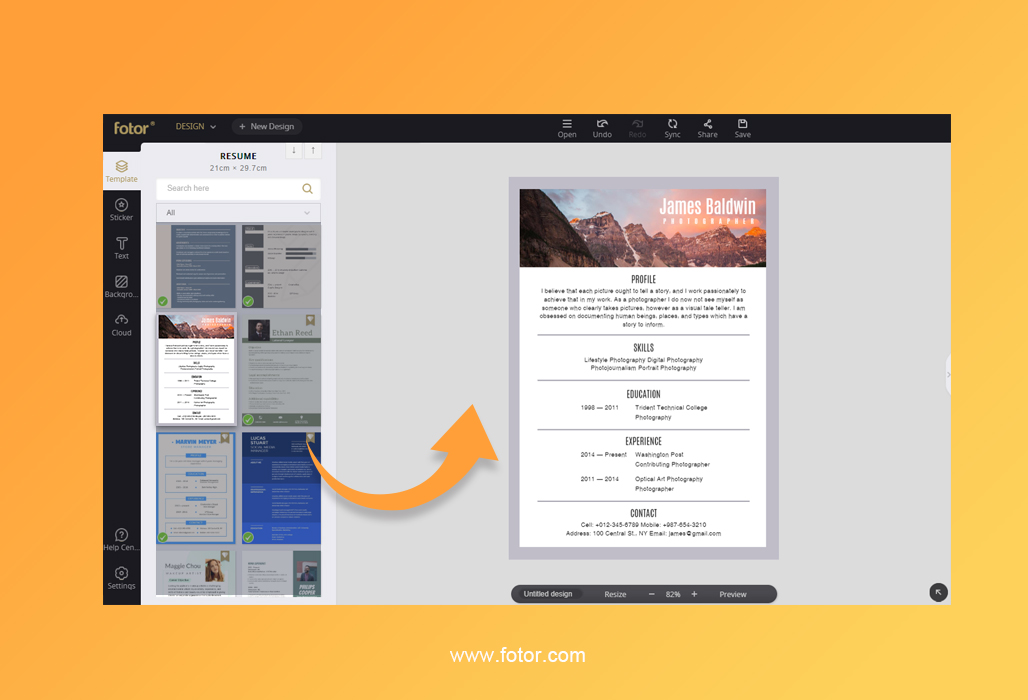 How to Make a Resume Online in 10 Minutes? Fotor\u0027s Blog