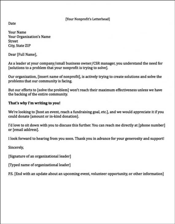 Sponsorship Letters Write Great Proposals with 12 Templates - Format Of A Sponsorship Letter