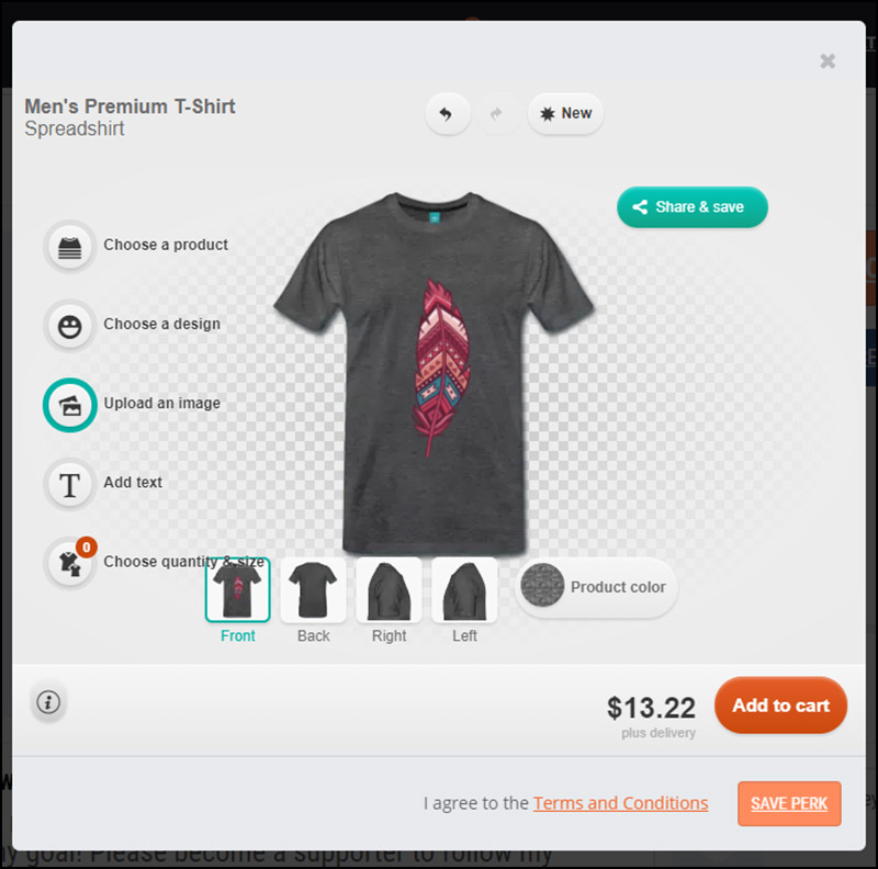 Build T-Shirt Order Forms into Your Crowdfunding 3 Steps