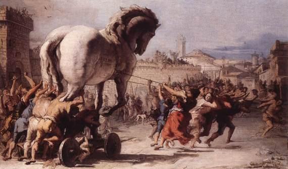 A procisão do Cavalo de Tróia - Giovanni Domenico Tiepolo - 1773