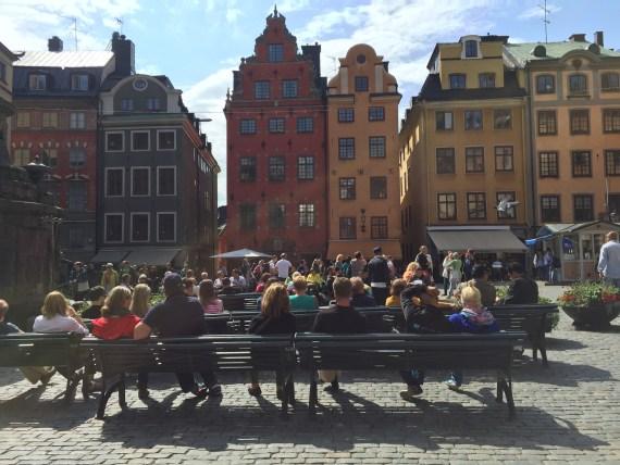 a principal praça da cidade velha na capital sueca