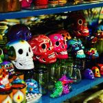 Calaveritas para dia de muertos Coloured skulls for day ofhellip