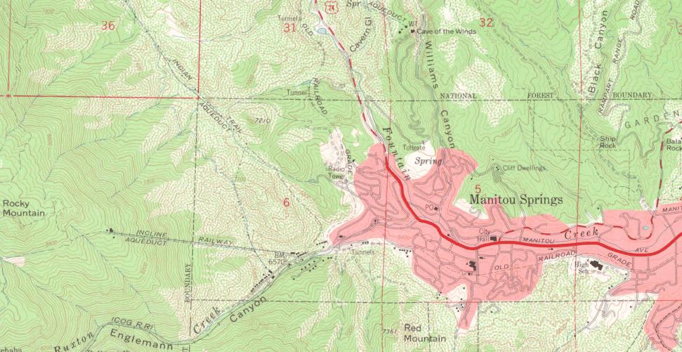 A USGS topo map.