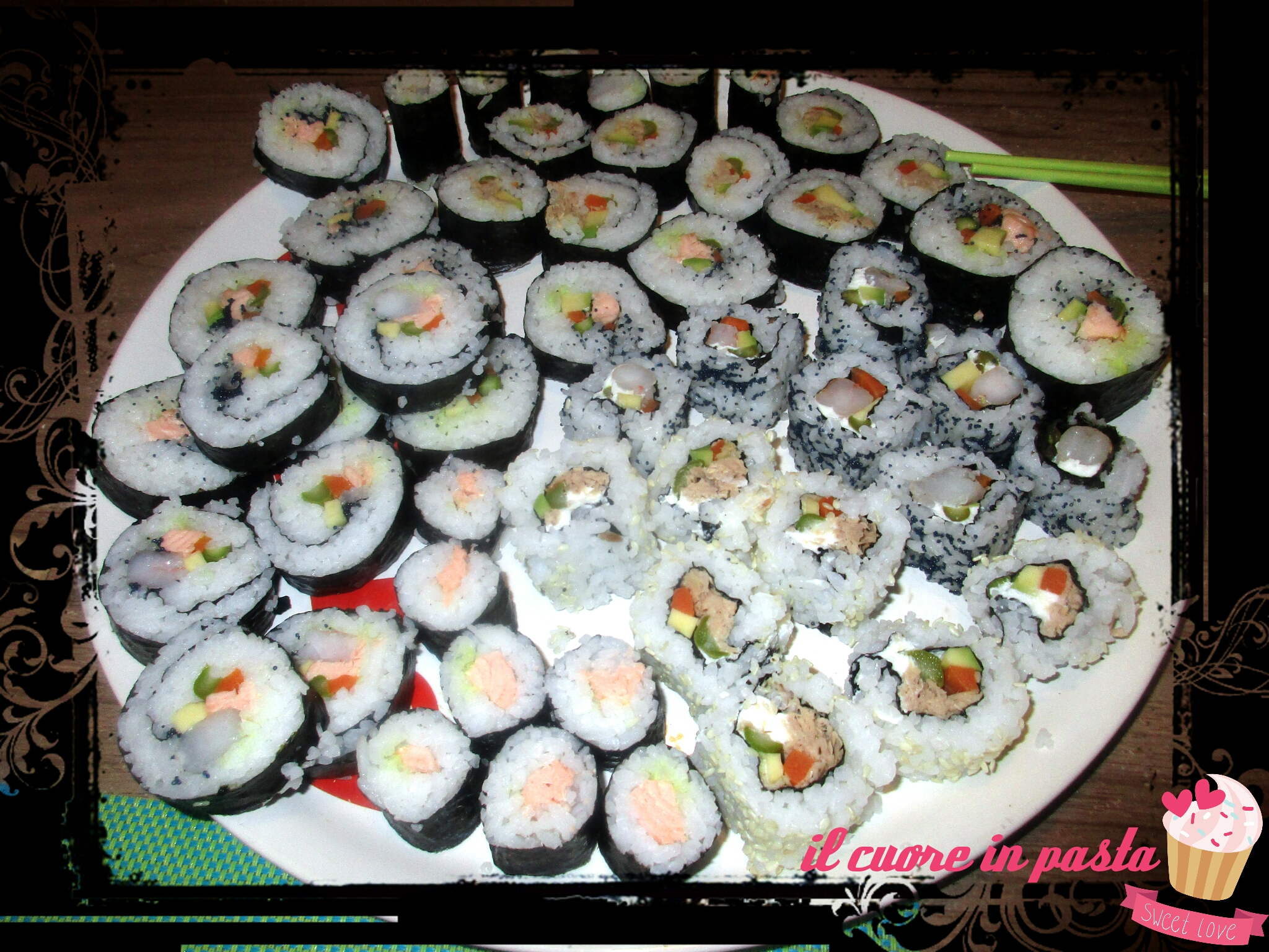 Cucina Giapponese Pesce Cotto Sushi Cotto A Vapore